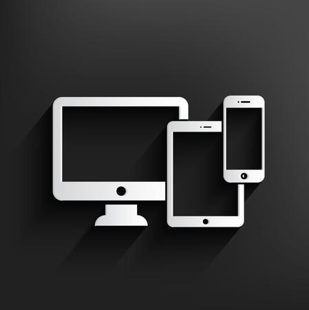 display size: Responsive design,Dark version,clean vector Illustration