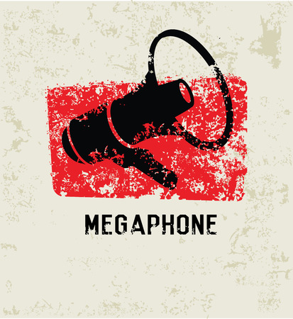 mega phone: Megaphone design Illustration