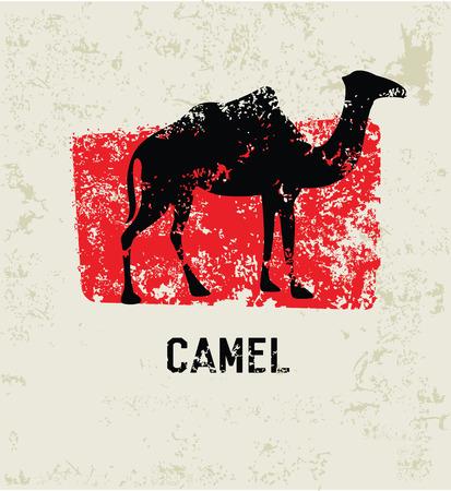 Camel grunge symbol,clean