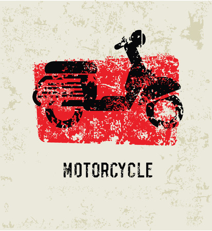 Motorcycle grunge symbol,clean Vector