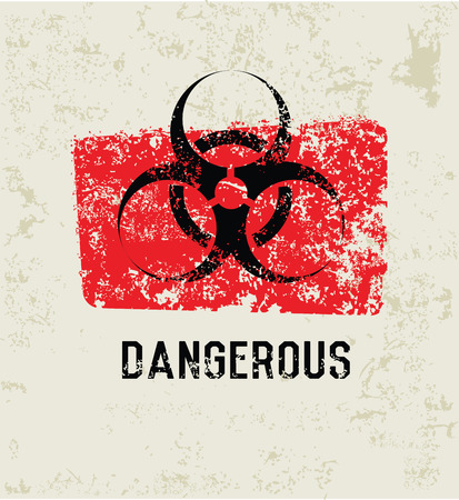 dangerous: Dangerous grunge symbol,grunge