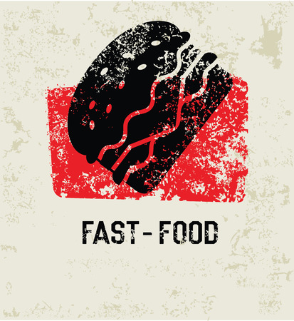 delectable: Fast food grunge symbol,clean