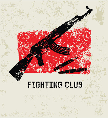 Fighting club grunge symbol,clean  Vector