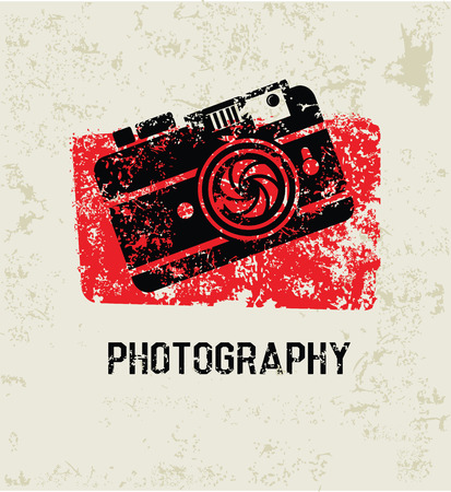Photography grunge symbol,clean  Vector