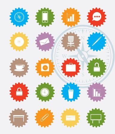 boxcar: Transport icon set,colour version,clean