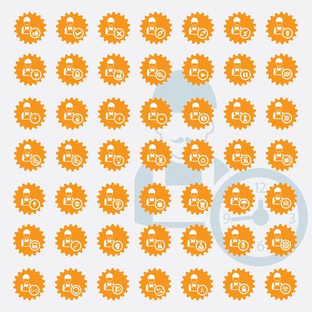 pied   � coulisse: Ing�nierie ic�ne ensemble, la version jaune, propre