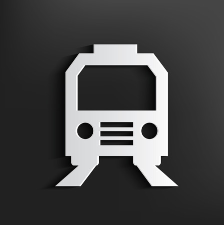 loco: Train symbol on black background,clean vector Illustration