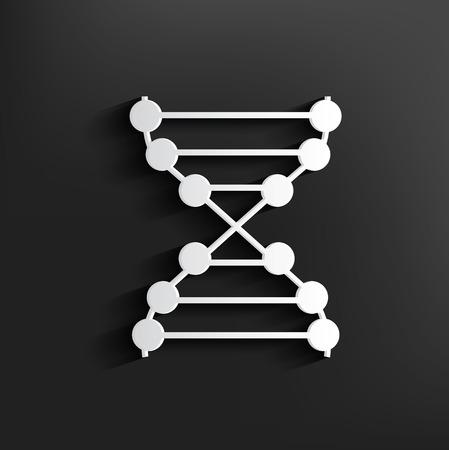 ascorbic: S�mbolo de la enzima en el fondo, vector limpia