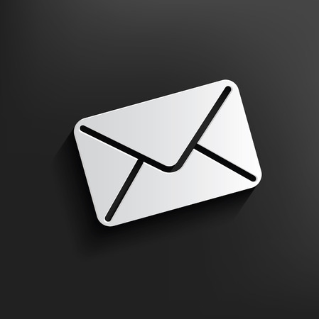 E-mail symbol on black background,clean vector Vector