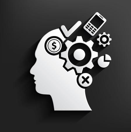 brain storm: Brain storm symbol on background,clean vector