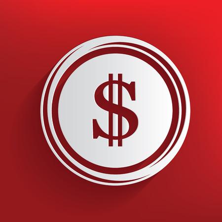 monet: Dollar symbol,clean vector Illustration