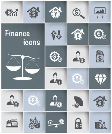 Financial icon set design,clean vector Vector