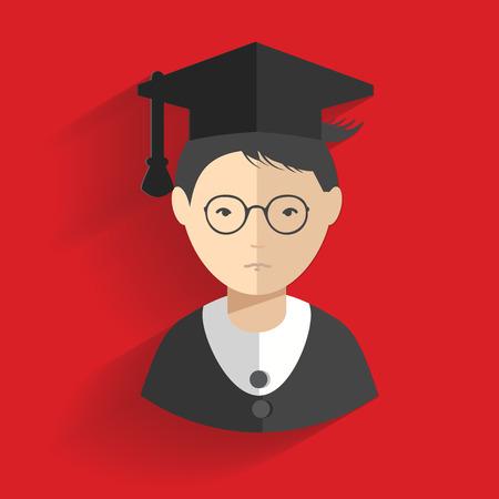 the alumnus: Student design,clean vector