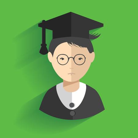 alumnus: Student design,clean vector