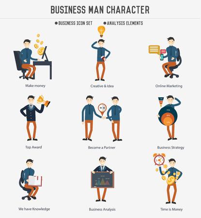 piggyback: Business man character design,clean vector