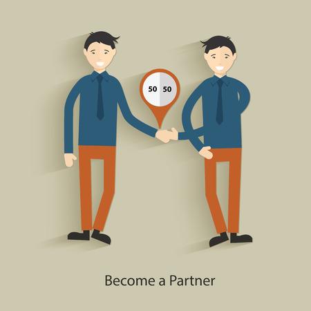 Become a partner concept design,clean vector Vector