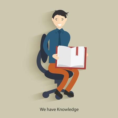 knowledge concept: We have knowledge concept design,clean vector Illustration