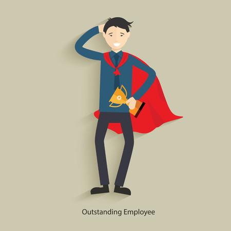 outstanding: Outstanding employee concept design,clean vector