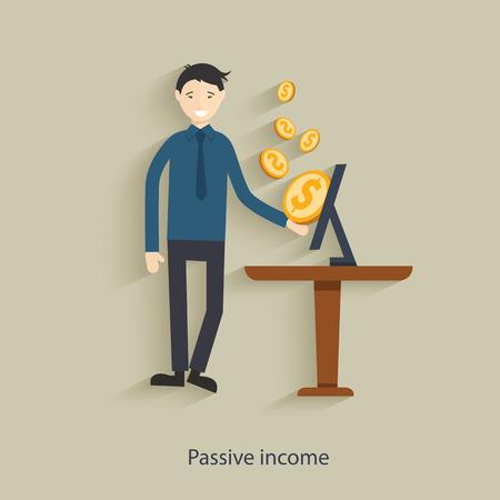 Passive income concept design,clean vector Vector