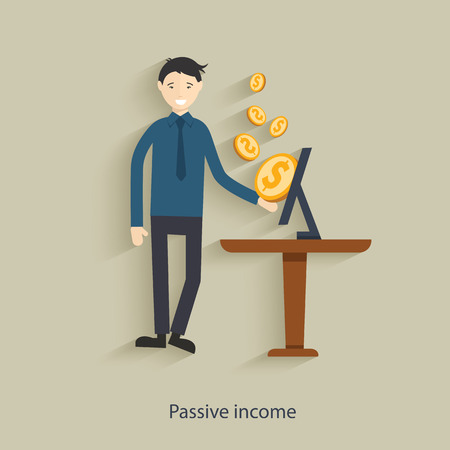 passive earnings: Passive income concept design,clean vector