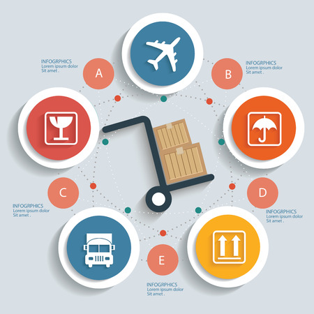 Logistics concept info graphic design,clean vector Vector