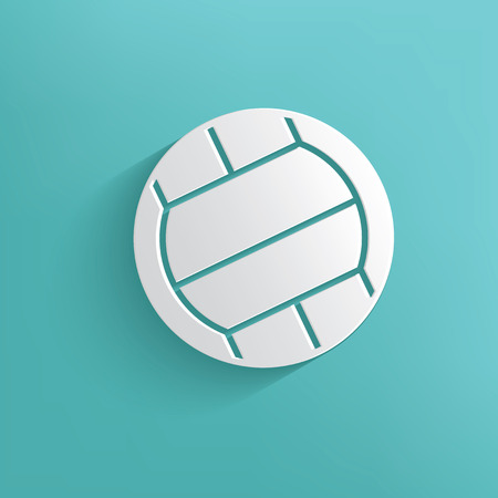 volleyball player: Volleyball symbol on blue background,clean vector