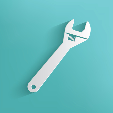 reconditioning: Repair symbol on blue background,clean vector Illustration