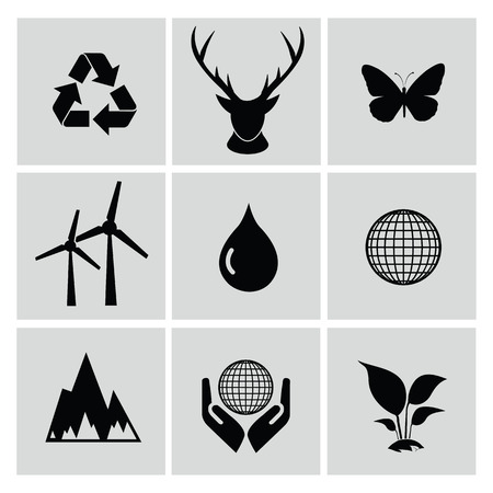 bag of soil: Ecology icon set,clean vector