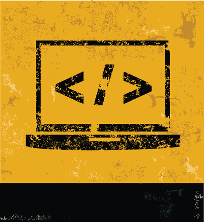 kódování: Kódování symbol, čistý vektor Ilustrace