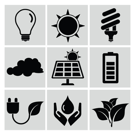 clean energy: Ecology and energy icon set,clean vector Illustration