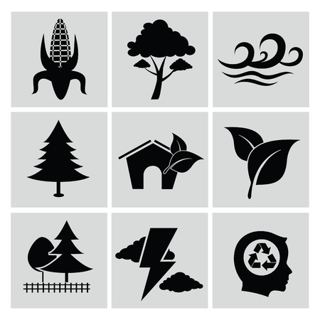 Ecology icon set,clean vector Vector