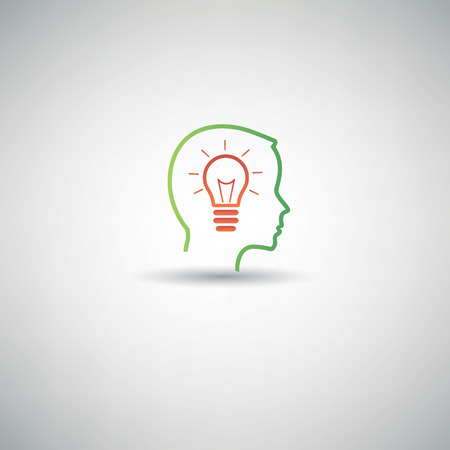 Idea thinking symbol,clean vector Vector
