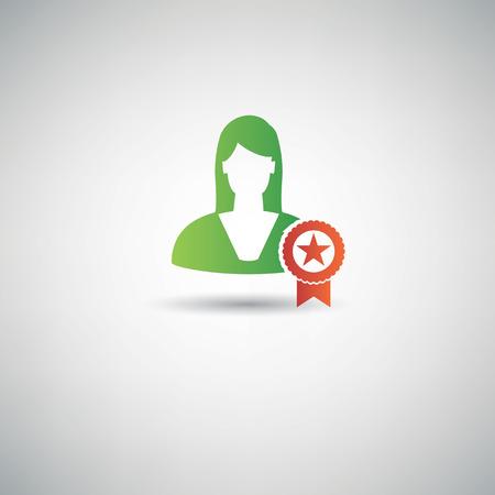 outstanding: Outstanding employee symbol,clean vector
