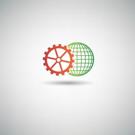 rackwheel: Gear global symbol,clean vector Illustration