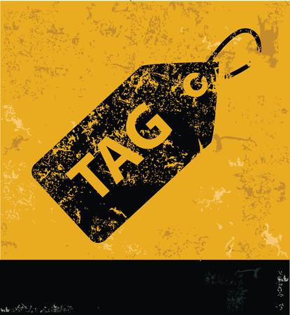 Tag symbol,clean vector Vector