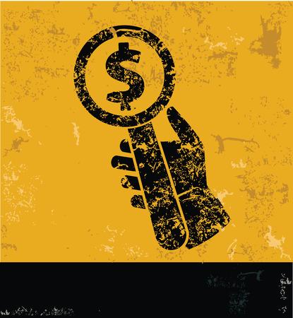 bid�: Bid - offer symbol on grunge yellow background,grunge vector Illustration