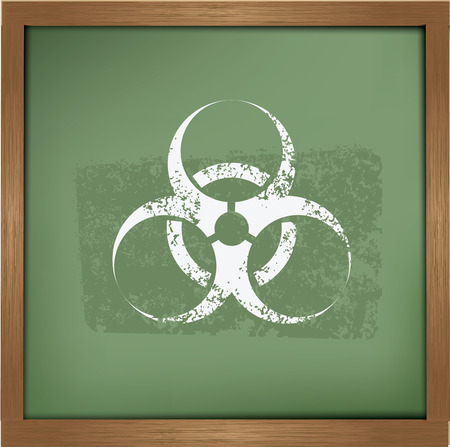 infectious waste: Bio hazard design on blackboard background,vector