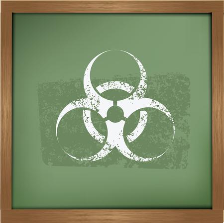 biological waste: Dise�o Bio peligro en el fondo de pizarra, vector Vectores
