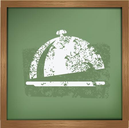 quart: Food design on blackboard background,vector