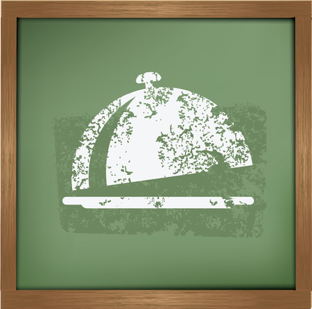 Food design on blackboard background,vector