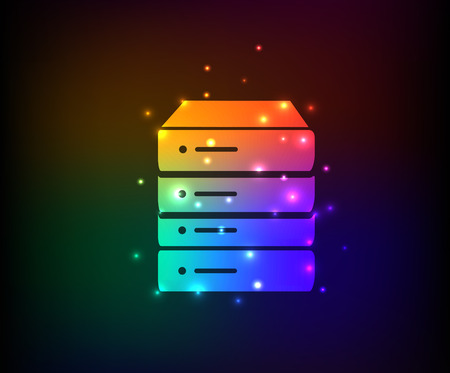 Database symbol,rainbow vector Vector