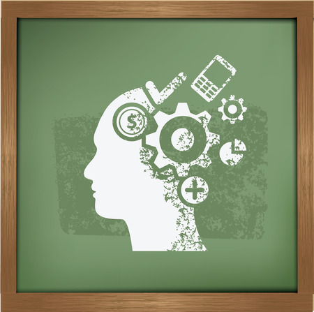 brain storm: Brain storm design on blackboard background,vector