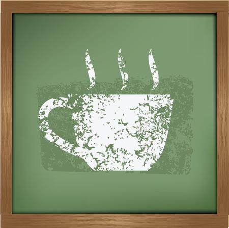 expressive style: Coffee design on blackboard background,vector
