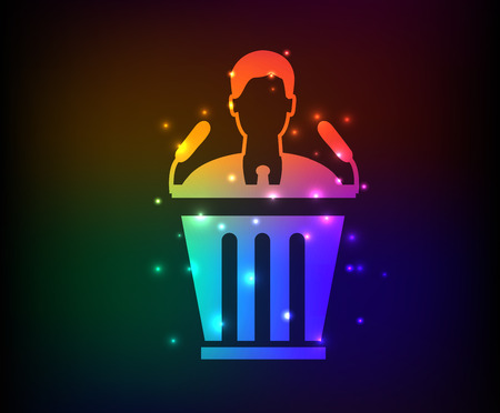 recruit suit: Business man symbol,rainbow vector
