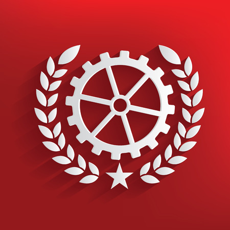 gears concept: Gears concept on red background,clean vector
