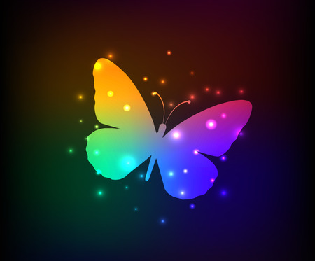 Butterfly design,rainbow vector Vector