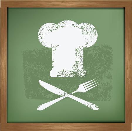Cooking design on blackboard background,vector Vector