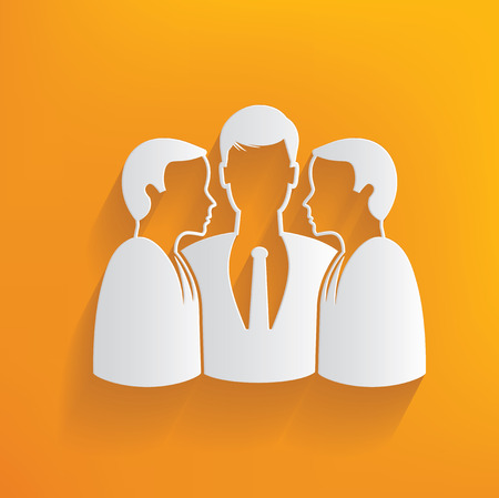 Human resource on yellow background,clean vector Illustration