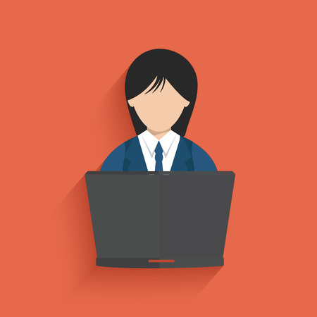 confidant: Woman working design on pink background