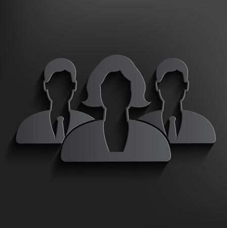 oneness: Teamwork symbol on dark background
